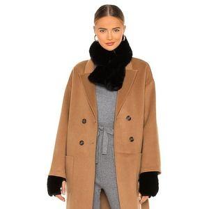 JOCELYN Faux Fur Mittens in Black One Size NWT